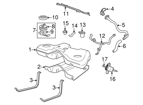 Fuel System/Fuel System Components for 2006 Ford Freestyle #1