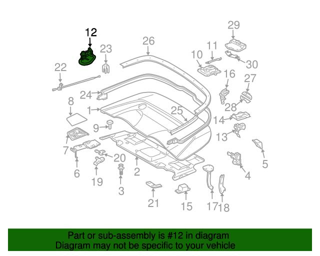Switch - Mercedes-Benz (209-820-17-10)   MB OEM Parts