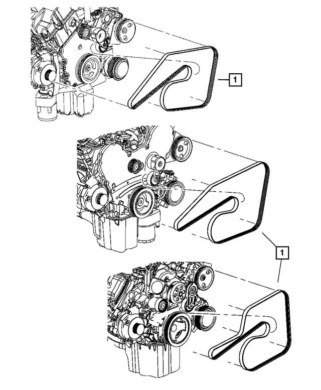 Genuine Chrysler 5037542AA Serpentine Belt