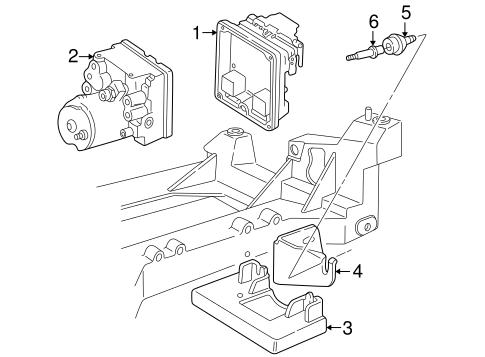 Oem 2001 Chevrolet Corvette Abs Components Parts