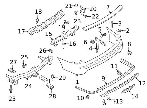 FORD OEM Rear Bumper-Bumper Cover Screw W704310S307