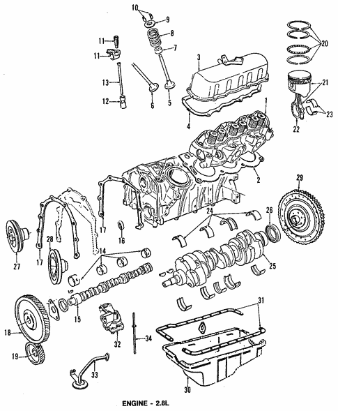 Engine For 1986 Ford Aerostar