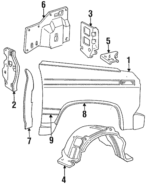 Fender Components For 1996 Ford F 350