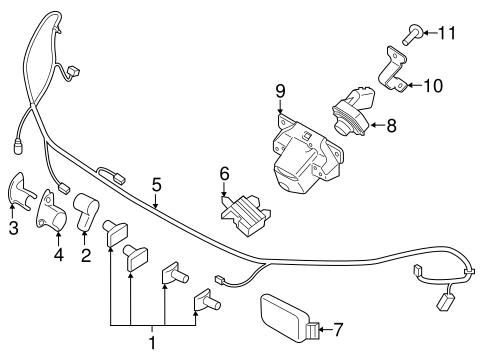 2011-17 Ford Explorer Windshield Outer Trim Pillar Moldings Right /& Left Side