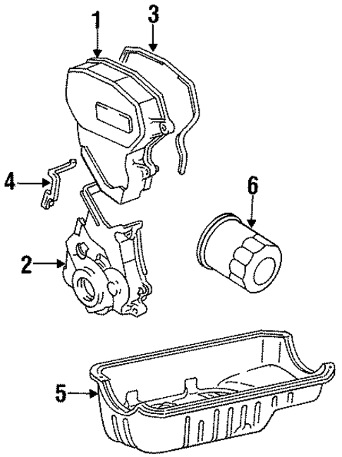 ENGINE/ENGINE PARTS for 1996 Toyota Tercel #2