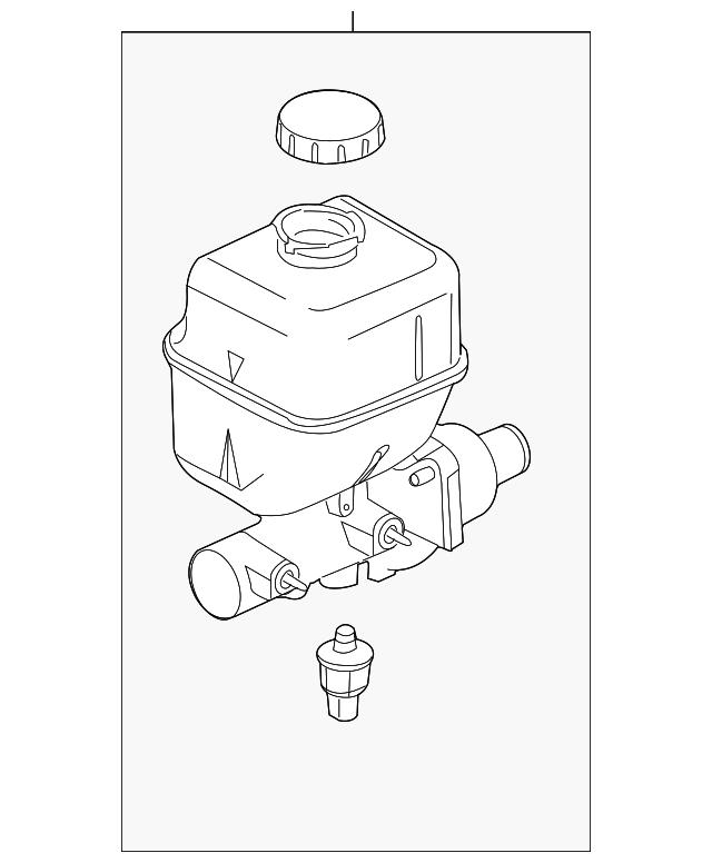 2011 2012 Ford Master Cylinder Bc3z 2140 B