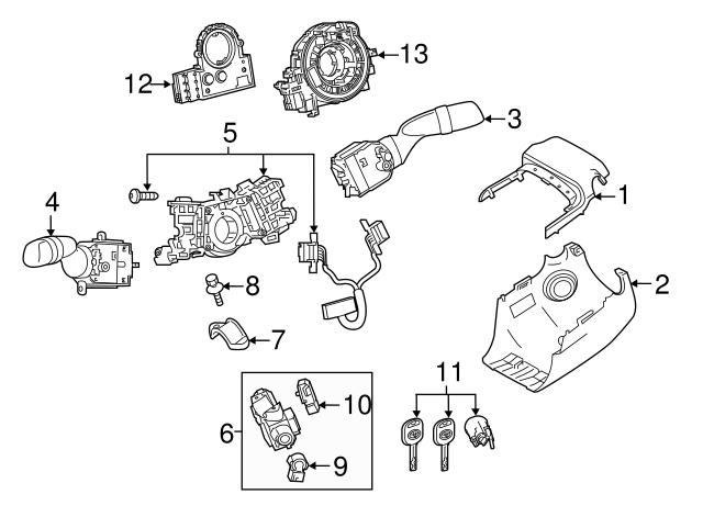 2018 2019 Toyota Camry Steering Lock 45280 33180