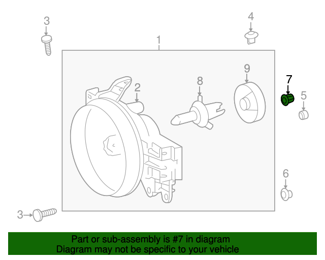 2007 2014 Toyota Fj Cruiser Headlamp Lock Nut 81128 35460
