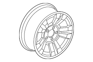 Wheel, Alloy - Ford (7L5Z-1007-N)