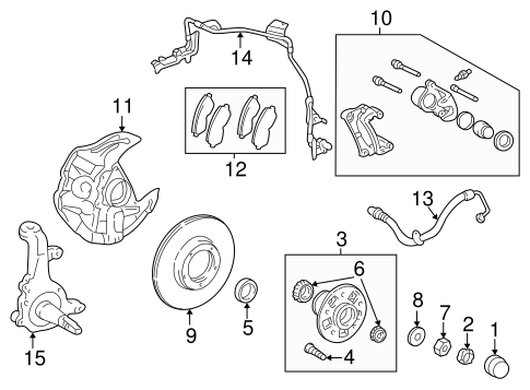 BRAKES/BRAKE COMPONENTS for 1998 Toyota Tacoma #1