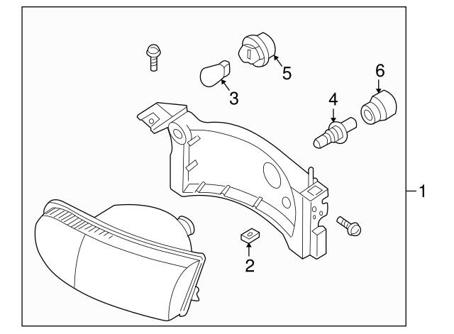 Headlamp Assembly Nut