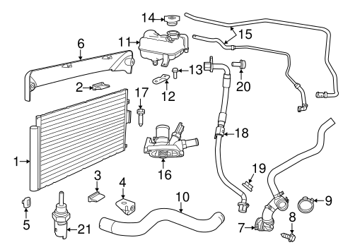 fiat engine cooling diagram 2001 audi tt engine cooling diagram radiator & components for 2014 fiat 500 | mopar parts