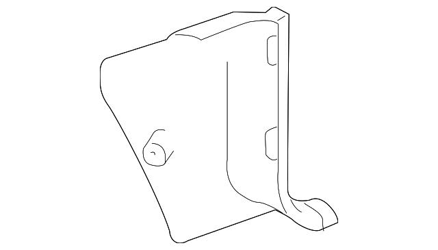 Toyota 62112-0C010-E1 Cowl and Kick Panel Side Trim Board
