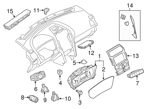 Headlamp Components For 2017 Ford Explorer
