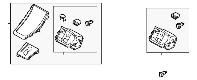 Genuine Hyundai 84641-3Y000-RY Center Console Cover Right