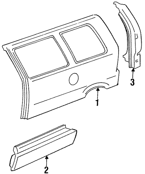 Side Panel for 1987 Ford Aerostar #0