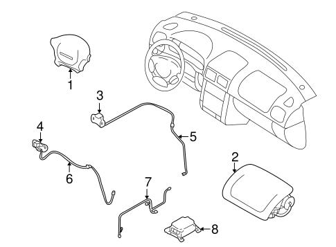 Air Bag Components For 1998 Subaru Impreza