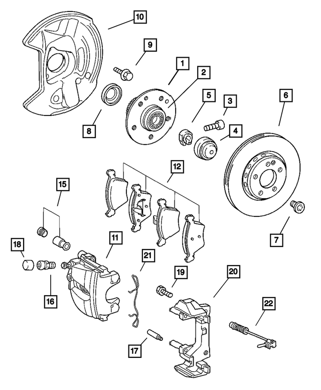 Front Disc Brake Pad Kit - Mopar (5143230AA)