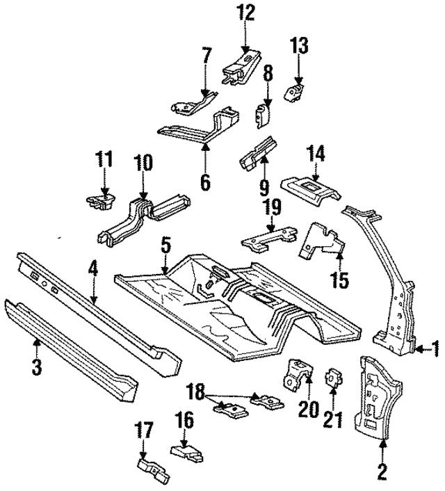 1994 2004 Ford Mustang Rocker Panel Xr3z6310121aa