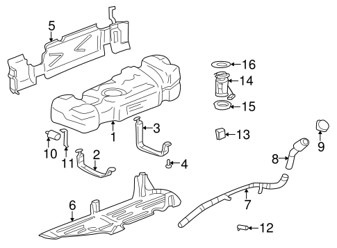 Fuel System Components For 2005 Buick Rainier