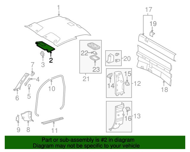 TOYOTA Genuine 74310-AD040-B0 Visor Assembly