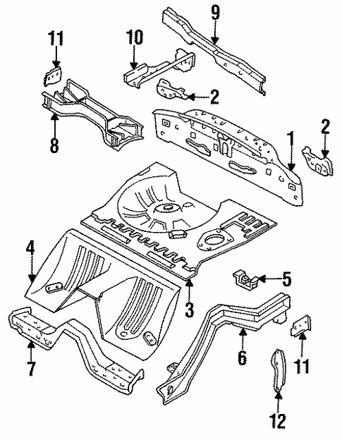 Genuine Oem Rear Body Parts For 1994 Mazda Rx 7 R2