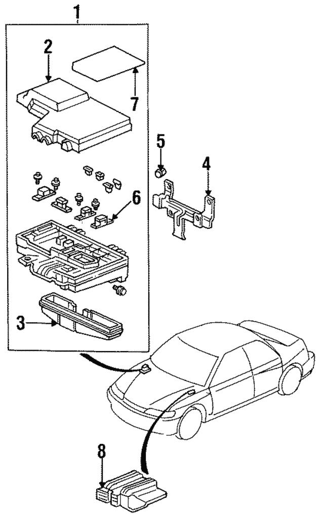 1990 2009 Honda Fuse Block 40a 38212 Sm4 003