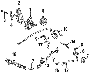Pulley Set, Power Steering Pump