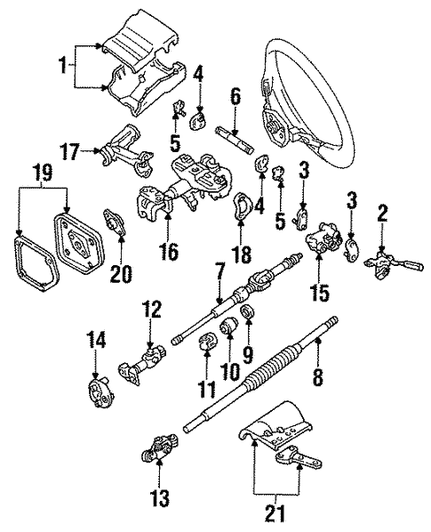 Genuine Oem Steering Column Assembly Parts For 1994 Toyota Land