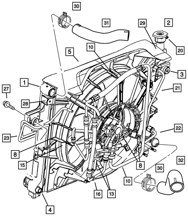 2004 2010 Jeep Hydraulic Fan Control Solenoid 5143201aa