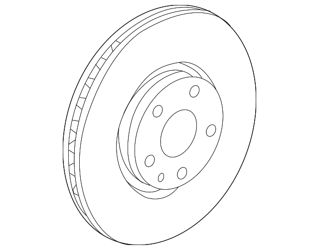 Chevrolet K1500 Front Disc Brake Rotor 40509016 OPparts