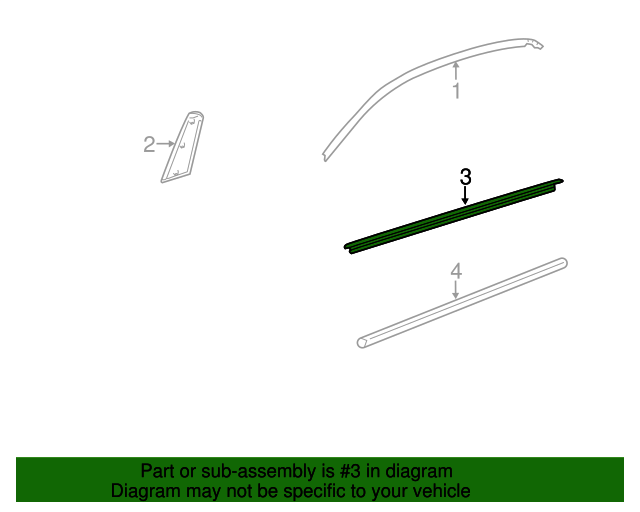 TOYOTA Genuine 68210-74030 Door Glass Weatherstrip Assembly