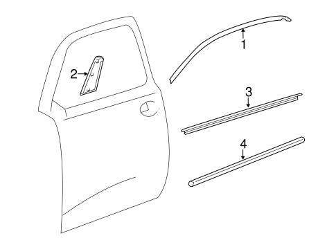 BODY/EXTERIOR TRIM - DOOR for 2012 Scion iQ #1