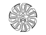 "Alloy Wheel, 22"" 7 Split-Spoke, 'Style 7007' - Land-Rover (LR039141)"