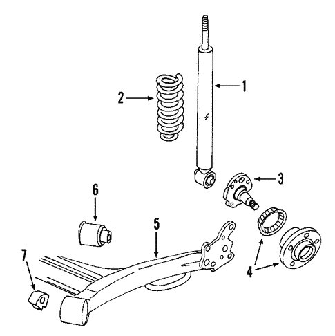 Rear Suspension for 2000 Volkswagen Golf #1