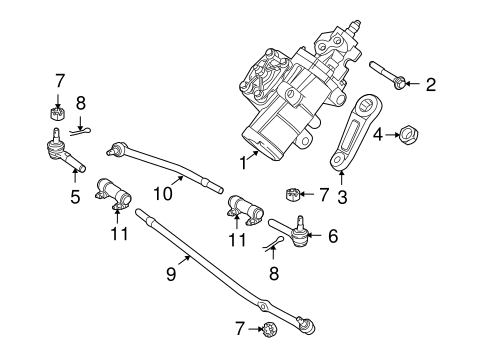 Steering/Steering Gear & Linkage for 2009 Ford E-150 #2