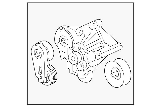 2010 2016 Land Rover Belt Tensioner Lr035556