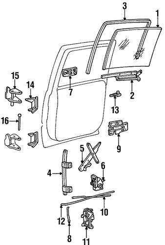 oem 1998 chevrolet tahoe rear door parts
