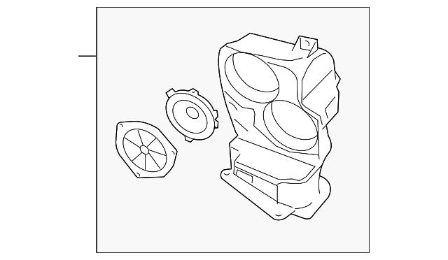 2003 2004 Land Rover Range Rover Speaker Box Xqa000020