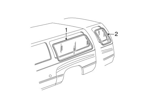 Body/Glass - Side Panel for 2001 Ford E-250 Econoline #3