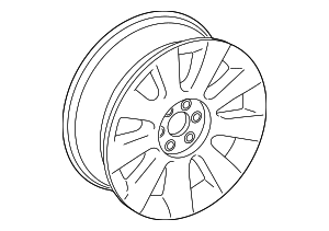 Wheel, Alloy - GM (23127748)