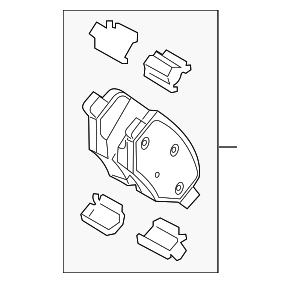 Brake Pads - FORD (ct4z2200a)