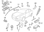 Curtain Air Bag - Volkswagen (1K9-880-742-F)