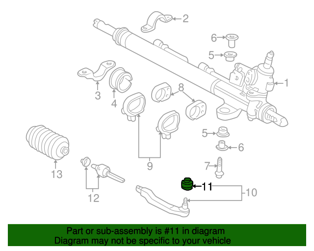 Boot Tie Rod End Acura 53546sz3003 Parts Now. Boot Tie Rod End. Acura. 2000 Acura Tl Tie Rod End Diagram At Scoala.co