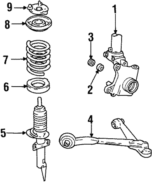 Suspension Components for 2000 Ford Windstar #0