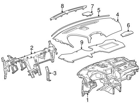 Oem 2010 Cadillac Srx Instrument Panel Parts