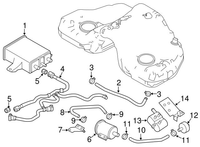 2002 20012 Mazda 3 5 6 Mpv Mx 5 Miata Cx 7 Evap Fuel Leak Detection