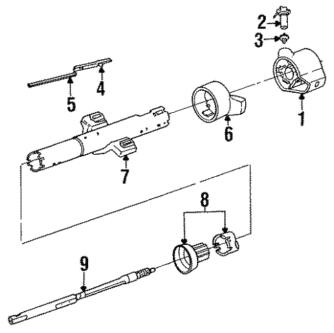 Steering Column Assembly for 1994 Pontiac Sunbird #2