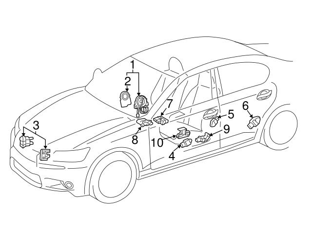 2014 2019 Lexus Ft Impact Sensor 89173 39495