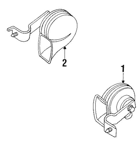 Horn For 2000 Chrysler Lhs